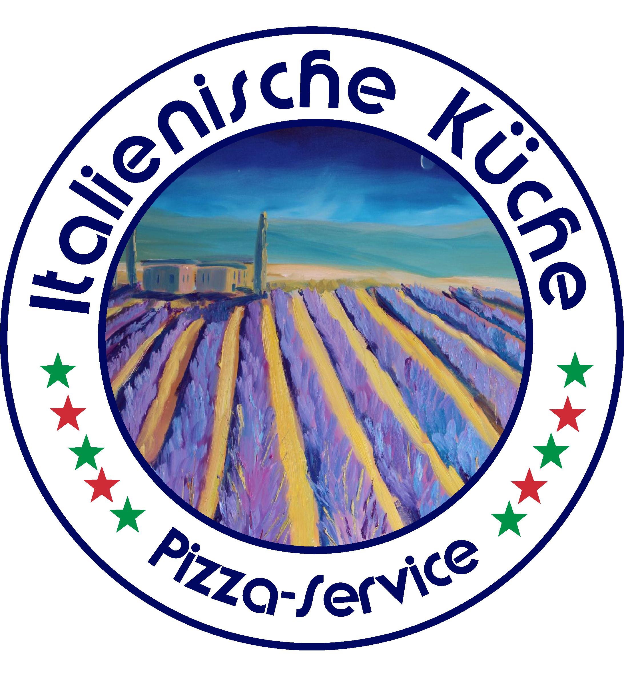 Logo Italienische Kueche Pizza Service mit Lavendelmotiv Toskana ...